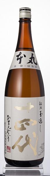 ↑十四代のスタンダード酒、「本丸」。1升で約2000円の低価格ながら、完璧なバランス、華やかな香りと、そのクオリティの高さには誰もが衝撃を受けるはず