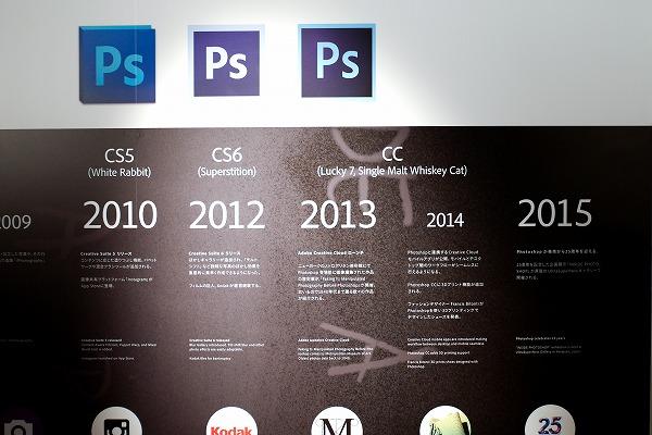 ↑2015年の上の意味ありげな空白が気になります。「新しいPhotoshopが発表されるかも」(森脇さん)