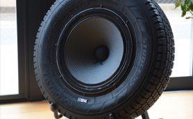 本物のタイヤを使った アンプ内蔵スピーカー「SEALスピーカー」を聴いてきた
