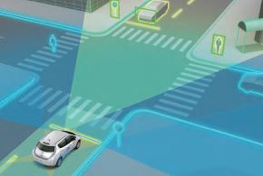 ↑2020年には、事故リスクが格段に高くなる市街地や交差点でも対応予定。歩行者や自転車などを検知して、自動運転をしてくれます