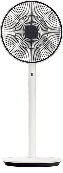 ↑こうして出来上がるGreenFan Japan。、渦を巻かない自然界のものに近い風を作り出す扇風機です。高効率で細かく制御できるDCモータ ーを搭載し、最弱運転時の消費電力はわずか1.5W(運転音は蝶2羽の羽ばたきの音とほぼ同じ13dB)と経済的!