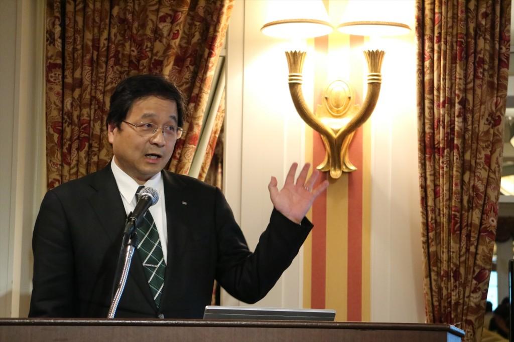 ↑ローランド上席執行役員 湯川純郎さん