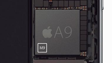 ↑iPhone 6s/6s Plusで採用されたA9チップ