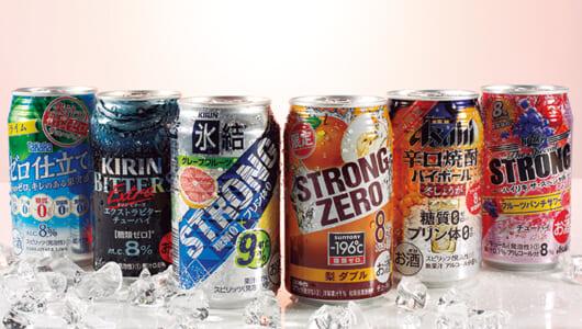 強めのアルコールで一気に酔える! 「強アルチューハイ」注目の6ブランド