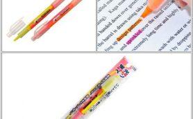 1本で2色が使える蛍光ラインマーカー「A-PEN 蛍光ツインペン」