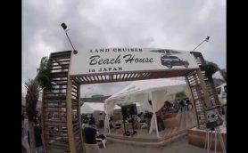 毎年個性的すぎる由比ガ浜の海の家たちに、今年はランクルが出店!