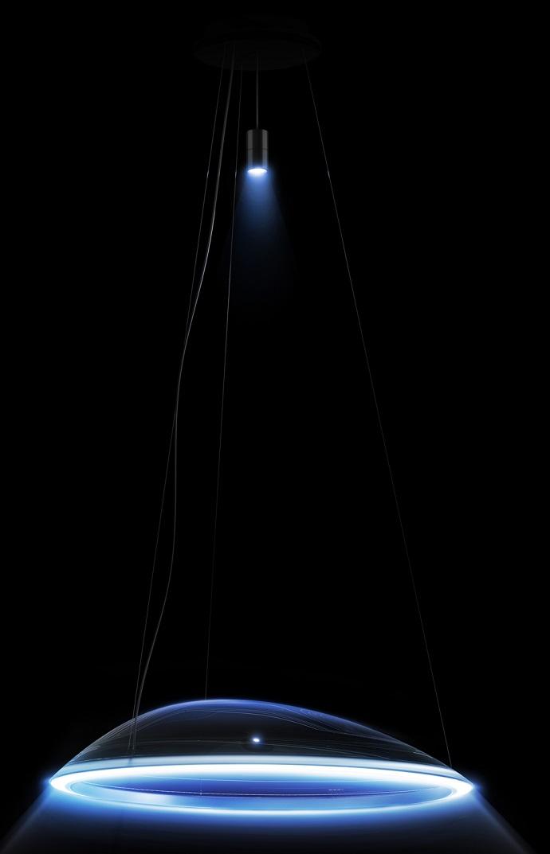"""Mercedes-Benz und Artemide präsentieren ihr erstes gemeinsames Produkt: Die """"Ameluna """" Pendelleuchte // Mercedes-Benz and Artemide present their first joint product: the """"Ameluna"""" pendant lamp"""