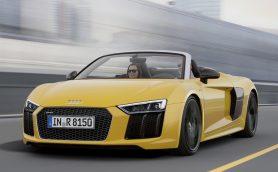 新型アウディR8スパイダー発表! 最高速度318km/hはロードスター世界最速クラス