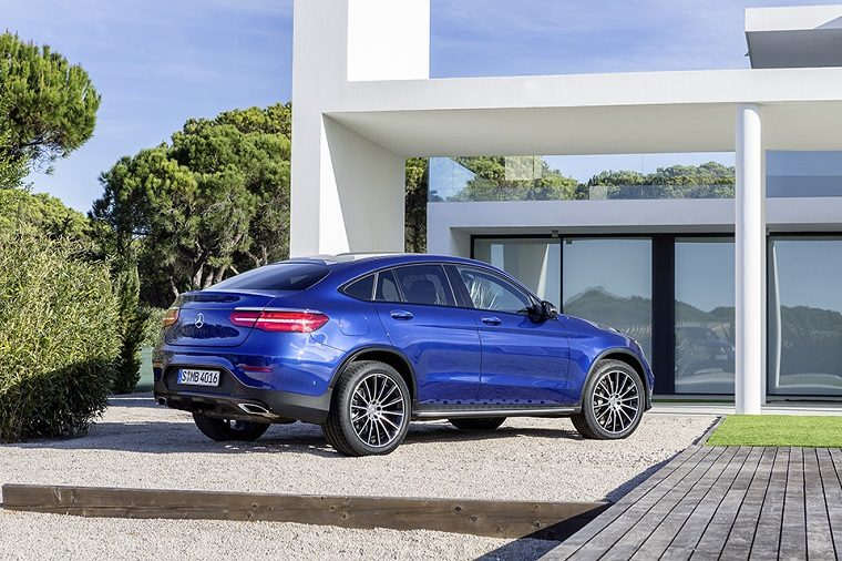 Mercedes-Benz GLC Coupé. Brilliantblau. Mercedes-Benz GLC Coupé. Brilliant blue