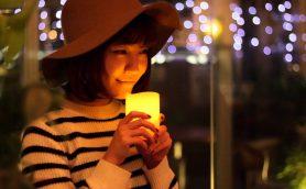 息を吹きかけると消える魔法のLEDキャンドル「ムーリュミエール」【動画】