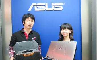 ↑ASUS JAPAN システムビジネス部 プロダクトマネージメント テクニカルプロダクトシニアマネージャーの 西康宏さん(左)と、同マーケティング部 システムプロダクトマーケティング シニアマーケティングスペシャリスト 福島美穂さん(右)