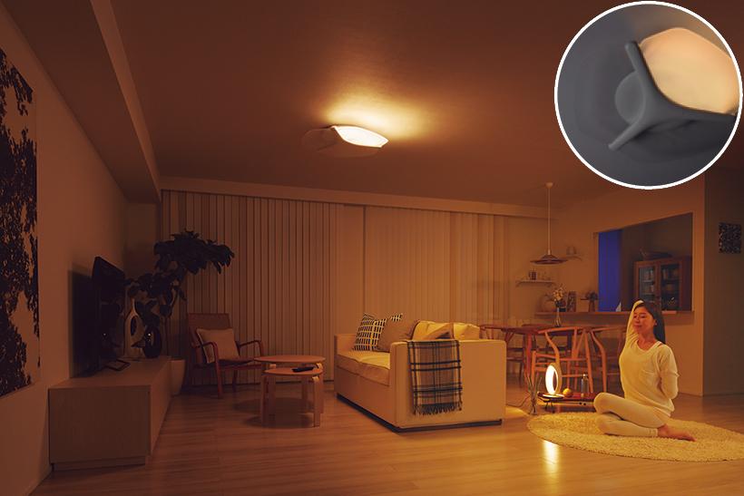 一方向だけをやさしく照らすことで、陰影を強調。部屋を落ち着いた雰囲気にしてくれます