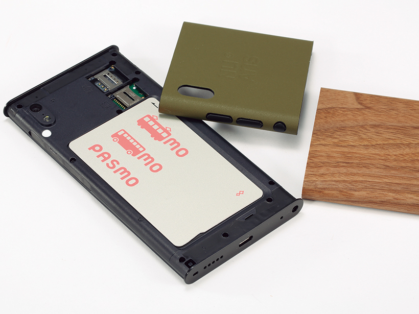 Suicaなどの交通ICカードを収納できる仕組みです