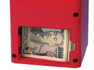 お札は30枚まで貯金が可能。貯めまくりたくなります