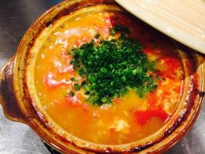 ↑トマ味噌カニ雑炊