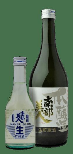 ↑岩手県の「南部美人 本醸造 生貯蔵酒」(1080円・720mℓ)。清涼感がありますが、厚みも感じられるお酒です