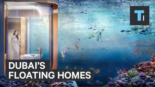 """【動画】やはりスケールが違う! ドバイの""""海に浮く家""""は水上2階、水中1階建てでお値段約3億円"""