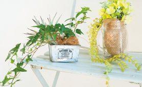 【ダイソー】100均アイテムで華やかな寄せ植えをアレンジ! コツはフェイク×本物MIX