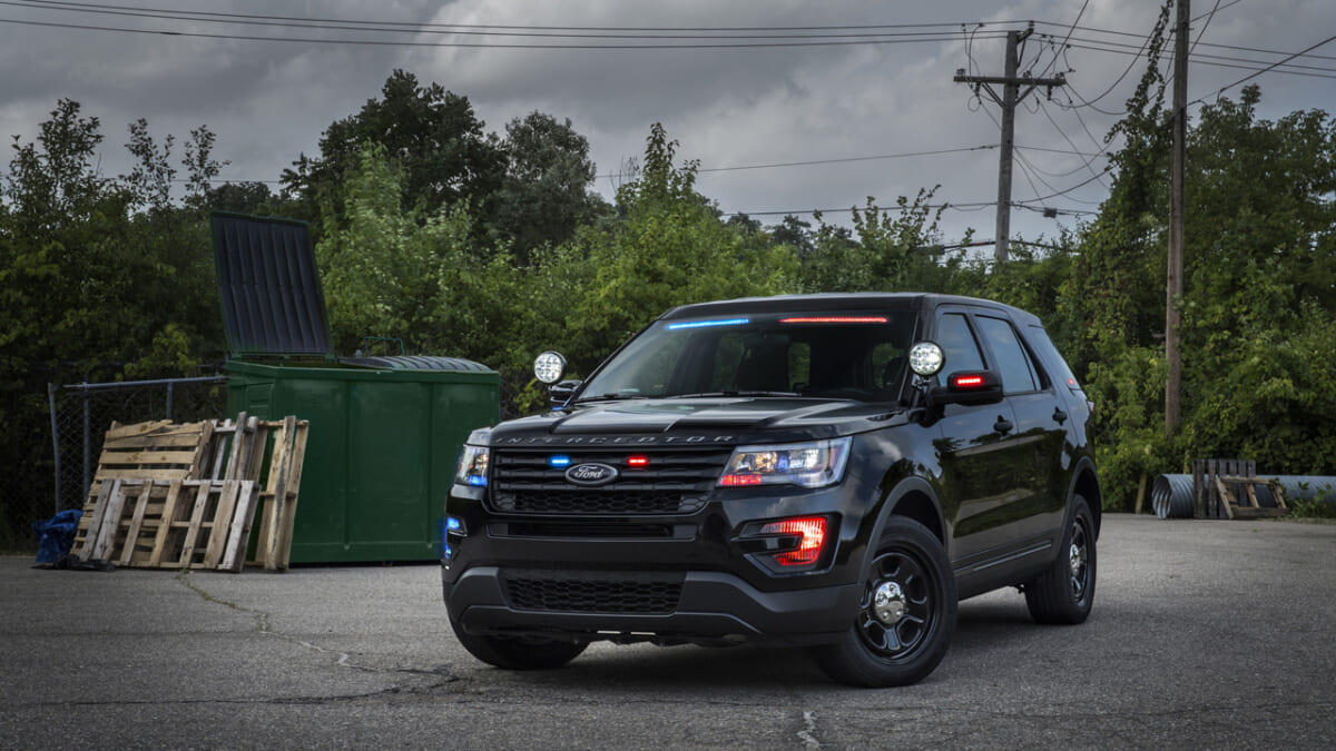 Ford now offers a super-low-profile visor light bar that mounts inside the Police Interceptor Utility to enable a stealth appearance.
