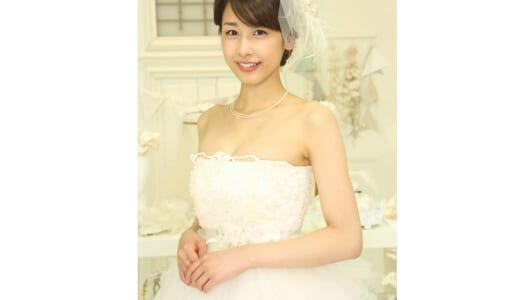 カトパンが純白のウエディングドレス姿を披露「もうすぐ31歳になるのでリアル」