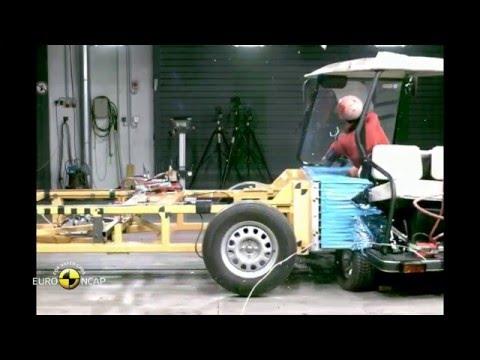 【動画】衝撃! ユーロNCAPが電動ゴルフカートをクラッシュテストしてみたら……