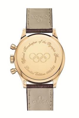 ↑ケースバックには限定番号だけでなく、オリンピック ロゴがエングレービングも