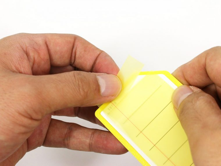 ↑ミシン目で好きなサイズに切り取って使える