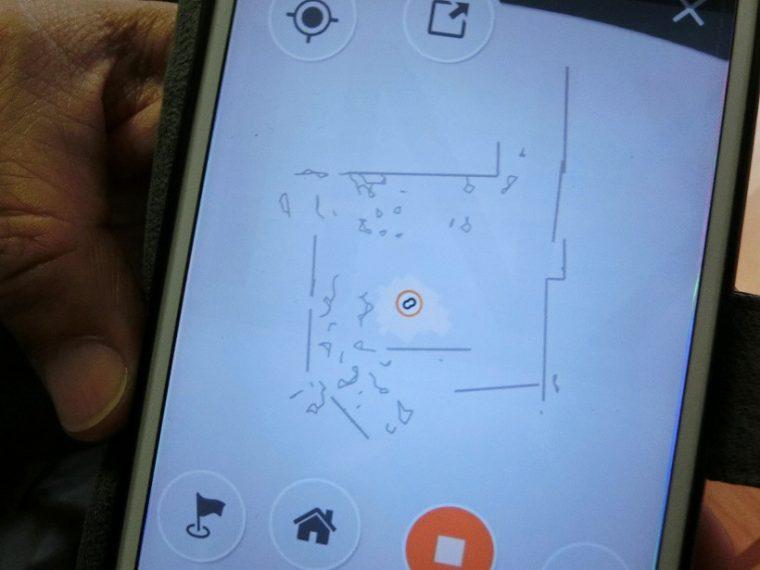 ↑スマホでのマップ画面。