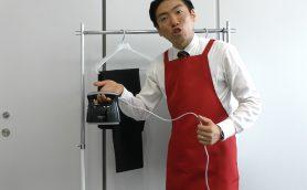 【出張実演】商材はパナソニックの衣類スチーマー! 若手のホープ・ハッピー森合がバーテン仕込みのワザで観客を酔わす!