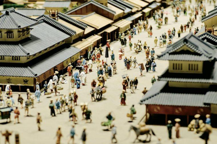 ↑江戸の町のイメージ