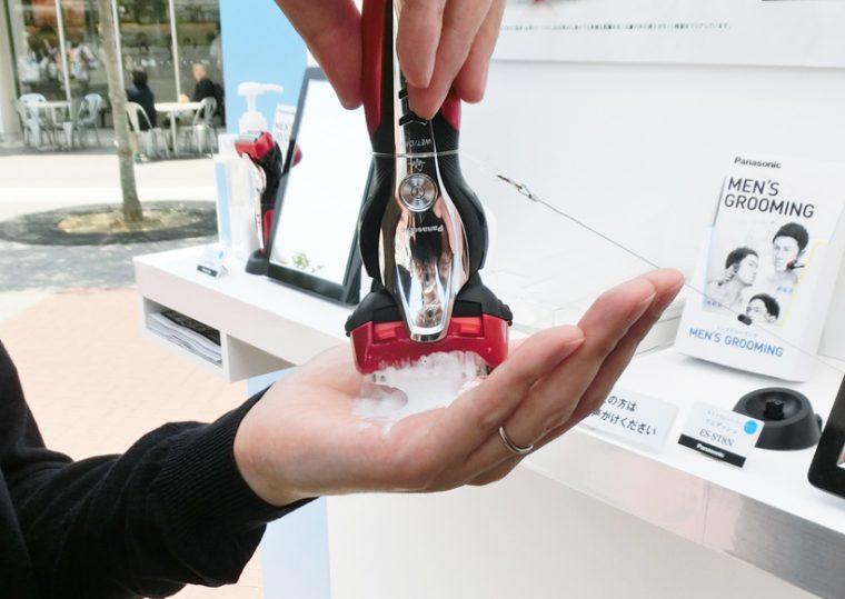 ↑洗顔剤などから手早く泡を作れる「泡メイキングモード」も搭載しています