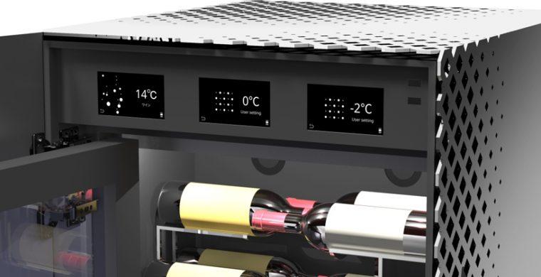↑室ごとに厳密な温度管理が可能。LEDも美しい