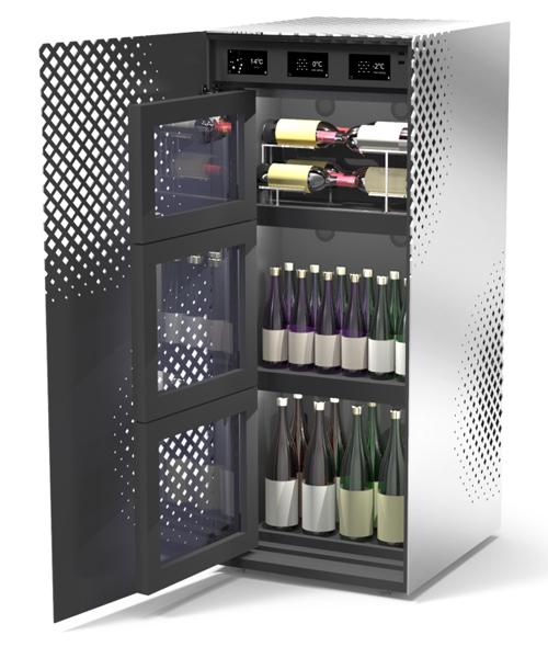 ↑ワインも日本酒と一緒に管理できる新提案