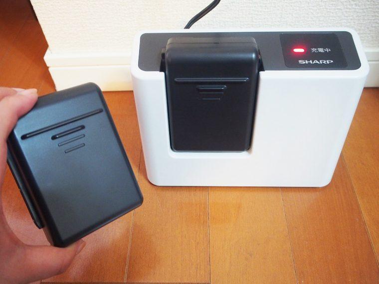 ↑バッテリー1個につき、自動モードで20分使えるため、2個あれば計40分は使える