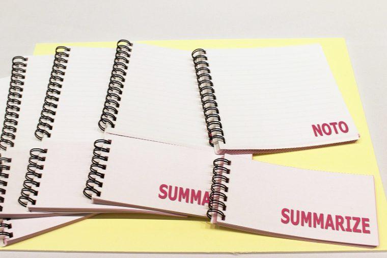 ↑切り離して情報を整理できる「まとめやすいノート」