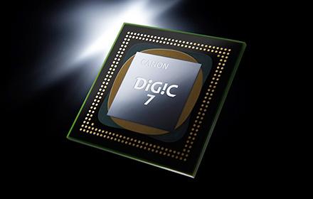 ↑最新の映像エンジン「DIGIC 7」を搭載