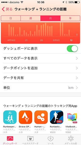 ↑取得データの詳細画面で、連携する他社製アプリが表示されます