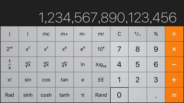 ↑横にすると桁数が増え、機能も追加されます