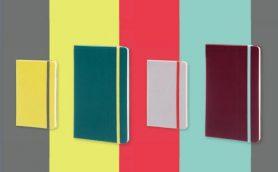 人気の「モレスキン」にポップな色使いの限定版が登場! 4色のカラーが交差する「コントラストコレクション」