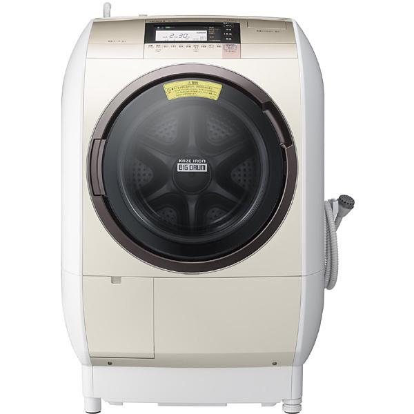 ↑日立 ビッグドラム BD-V9800(実売価格14万3420円)。高速風によって、乾燥時の衣類のシワを大幅に低減してくれます