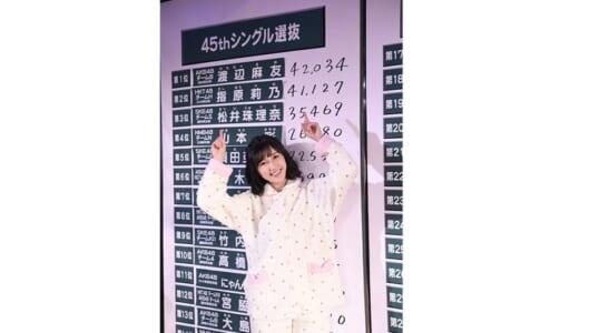 2年ぶりの首位奪還を目指すまゆゆが第1位! 『AKB48 45thシングル選抜総選挙』速報結果一覧