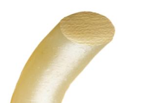 ↑楕円の断面を持つみその麺のイメージ