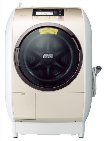 ↑日立のヒートリサイクル 風アイロン ビッグドラム BD-V9800(実売価格14万4800円)。高速風でシワを伸ばす「風アイロン」機能付きで、乾燥性能をさらに向上させています