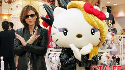 YOSHIKI緊急来店でアドホック新宿は大混乱!? サンリオ人気キャラ投票企画で「yoshikitty」を応援