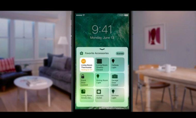 ↑新たに追加されるHomeアプリ。スマート化された住宅設備を操作可能