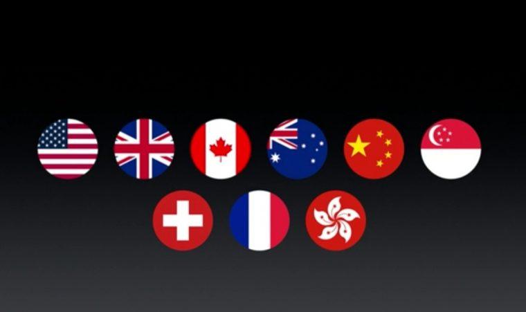 ↑Apple Payのサービス提供国。日本は挙げられず