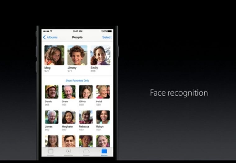 ↑Photosに顔認識機能が搭載