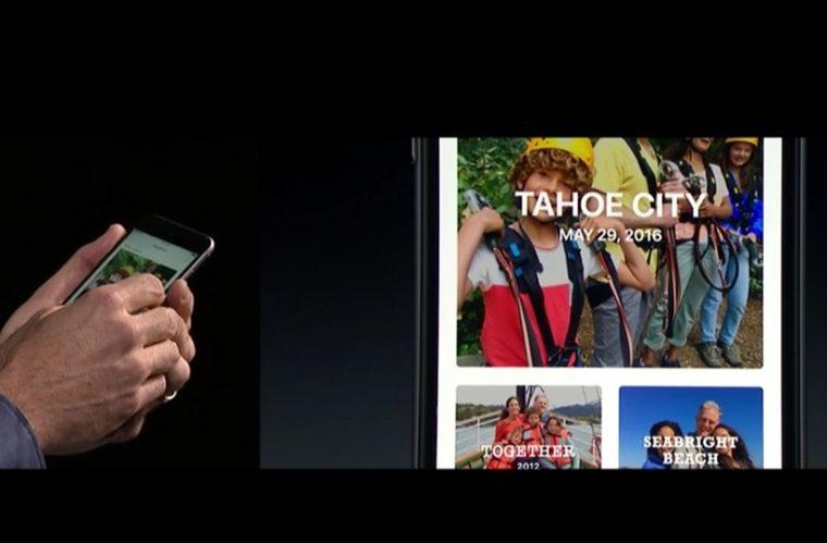 ↑シーン認識機能で、旅行中に撮った写真などを自動で分類してくれます
