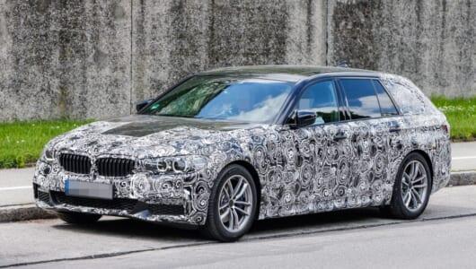 【スクープ】早くもワゴン版をキャッチ! 次期BMW5シリーズ・ツーリングはよりスタイリッシュに