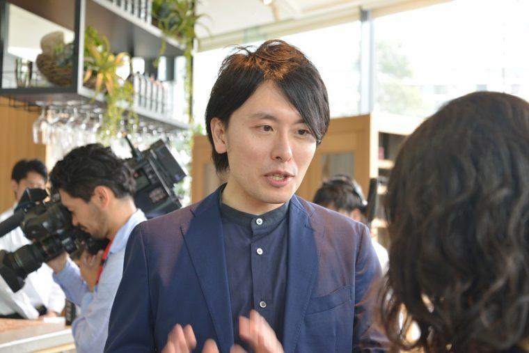 ↑サントリー食品インターナショナルの川口洋之さん。食品事業本部のブランドマネージャーとして、開発などを担当しています